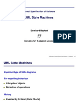 Formal Specification of Software Uml State Machines