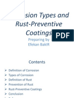 Corrosion Types and Rust-Preventive Coatings