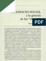 BOURDIEU Espacio Social y La Genesis de Las Clases