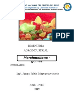 Elaboración de marshmallows