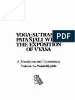 Yoga Sutras of Patanjali With the Exposition of Vyasa, Volume I