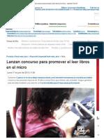Lanzan concurso para promover el leer libros en el micro - reportuit _ Perú 21.pdf