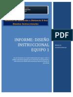 Informe Diseño Instruccional EQUIPO 1
