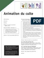 Animation Du Culte 01