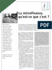 La Microfinance Qu Est-ce Que c Est