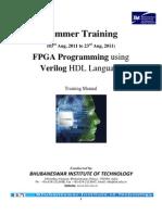 Training Manual for Fpga Programming Using Verilog Hdl Language