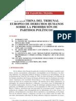 Tajadura, TEDH y Prohibicion de Partidos Politicos