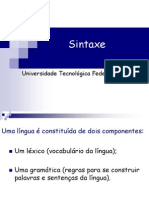 Aula sintaxe sintaxe Tradiciona l- revisão e crítica