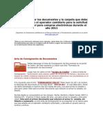 Como Organizar Los Documentos y La Carpeta CADIVI