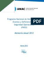 Pnso Memoria Anual 2012