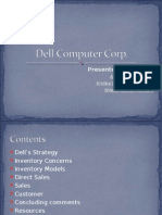 Dell Computer, Class presentation , alliance business school