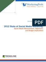 2012 State of Social Media Marketing