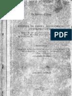 Studies in Greek Allegorical Interpretation