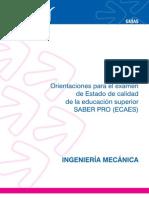 Ingenieria Mecanica Guia Orientacion Ecaes Icfes Mejor Saber