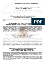 Repaso de La Escuela Del Ministerio Teocratico (Julio-Agosto 2013)