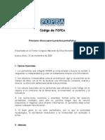 Código de ética de FOPEA