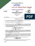 Rural Water Paper-II-Civil Engg