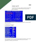 Pasos Para Formatear Una PC