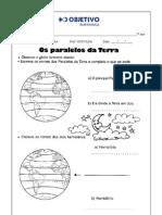 Geografia Paralelos e Meridianos