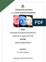 Resumen Psicosis Sintomaticas Por John Flores Davila