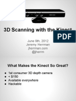 3d Scanning With the Kinect