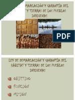 DEMARCACIONDE TIERRAS EXPOSICIÓN