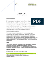 Llm Patent Syllabus
