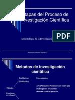 Etapas Del Proceso de Investigacion Cientifica 2009