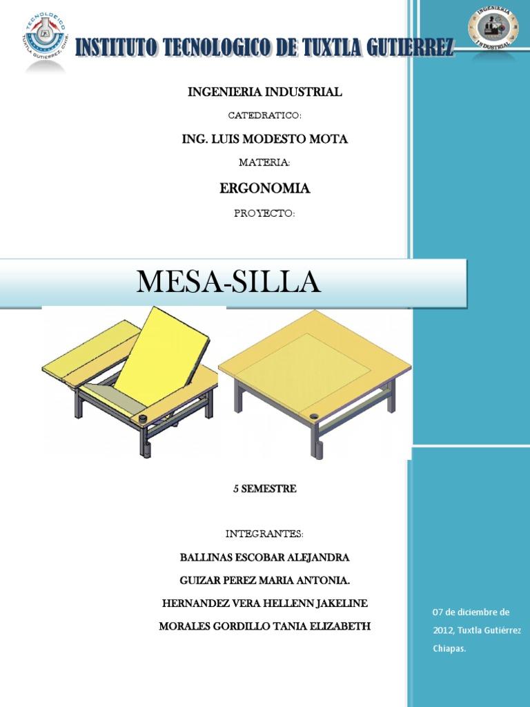 ErgonomiaMesa Proyecto Silladocx Silladocx De Proyecto De De ErgonomiaMesa Proyecto rdoBshQtCx