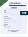CFC 32nd Anniversary Schedule