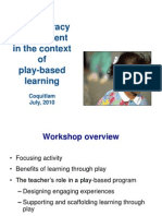 early literacy assessment in the context of play-based learning