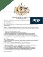 Inspector Generals Act (04/09)