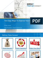 Ten Easy Ways to Improve Your Sales Success - Phillip Jones