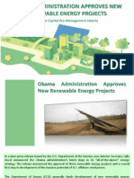 Obama Administration Approves New Renewable Energy Projects