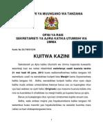 Tangazo La Kuitwa Kazini Juni 18