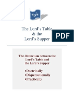 The Lord's Table & the Lord's Supper
