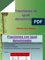 Fracciones de Igual Denominador