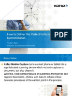 How to Deliver the Perfect Kofax Mobile Capture Demonstration