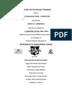 Corporation Bank Project