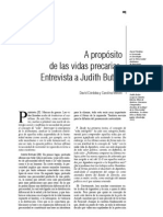 Judith Butler - A propósito de las vidas precarias. Entrevista