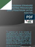 Penyusunan Standard Operating Procedure (SOP) Persiapan