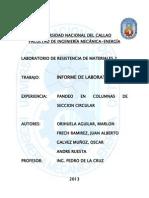 Informe de Pandeo en Columnas de Seccion Circular