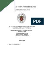 EL CUENTO LITERARIO ESPAÑOL 1991-2000 - APORTACIÓN A SU POÉTICA_b