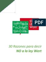 Doc. Compl. - Razones Para Decir NO a La Ley Wert