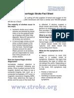 NSA FactSheet Hemorrhagic Stroke
