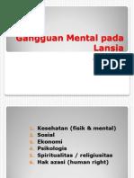Gangguan Mental Lansia