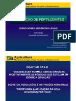 1 Legislação de Fertilizantes