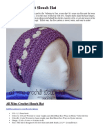 All Mine Crochet Slouch Hat