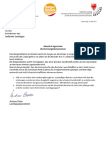 Ahrntal - Stromkonzessionen - Landtagsanfrage & Antwort Andreas Pöder (BürgerUnion)
