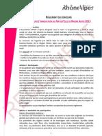 Réglement Concours Innovation NaturElle